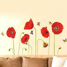 poppy wall decal red poppy flowers wall stickers flowers poppy wall sticker poppy wall sticker lolli poppy wall decal