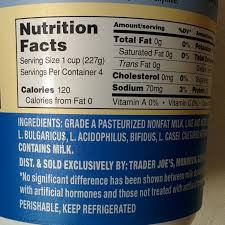 trader joe s nutrition labels trader joe s greek yogurt nonfat plain intended for greek yogurt nutrition