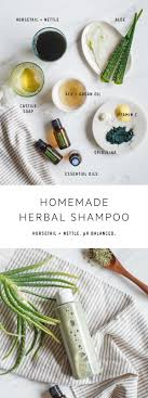 a natural diy shampoo made from horsetail and nettle to nourish strengthen and promote