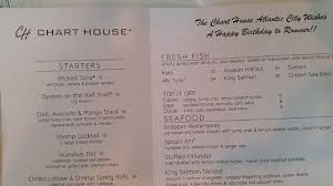 Chart House Golden Nugget Menu Birthday Menu Picture Of Chart House Atlantic City