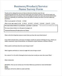 Product Survey Templates New 44 Examples Of Survey Forms Sample Templates
