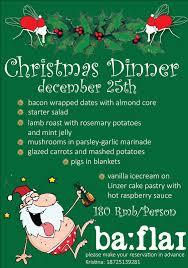 christmas dinner poster christmas dinner barfly events calendar gokunming