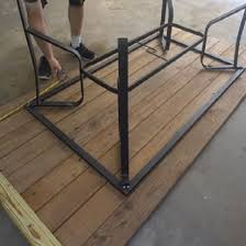 upcycle a broken glass patio table with
