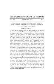 A HISTORICAL SKETCH OF IRVINGTON, INDIANA