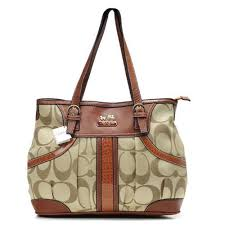 Coach In Monogram Medium Brown Totes 51571