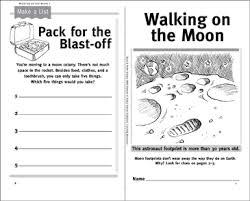 walking journal walking on the moon science journal printable mini books