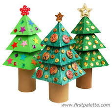 3D Paper Christmas Tree Craft | Kids' Crafts | FirstPalette.com