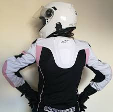 a photograph showing a good looking lady wearing the alpinestars stella t gp plus
