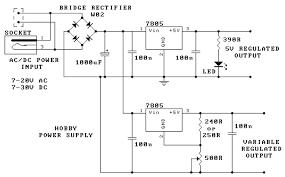 vdc digital pic power supply schematic design hobby power supply