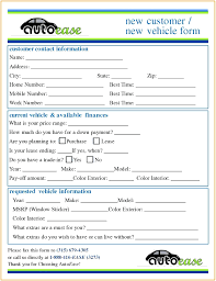 Customer Form Template New Customer Form Template Contact Design Application Luxury Doc