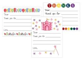 cards templates free printable kids thank you card templates birthdays gifts