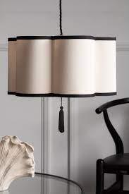 black cream lantern curved ceiling