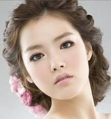 korean asian wedding makeup and hair the pastel pinks make this a good look