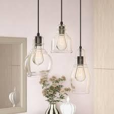 Multiple pendant lighting fixtures Globe Pruett Cognac Glass 3light Cascade Cluster Pendant Wayfair Multi Pendant Lights Wayfair