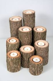 27) Wooden Candle Holder