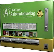 Old Cigarette Vending Machine Enchanting Clever Reuse In Hamburg German Publisher Sells Books Out Of Old