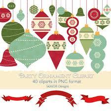 Christmas Ornaments Clipart Garlands Clipart Bauble Clip Art Christmas Tree Decorations Scrapbooking Rustic Ornaments Invitations