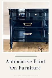 automotive paint on furniture painted