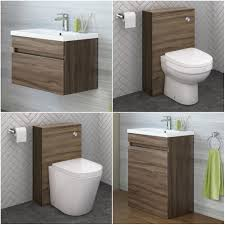 modern bathroom furniture. Modern Bathroom Walnut Storage Cabinet Ceramic Basin Vanity Unit Toilet WC Furniture