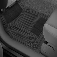 rubber floor mats. Michelin® - Premium 1st \u0026 2nd Row Black Carpet Rubber Floor Mat Set Mats
