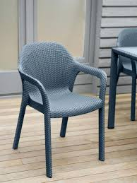 woven metal furniture. Stackable Outdoor Chairs Plastic Patio Dining Chair Woven Wicker Look Wire Steel Constructed Resonate Stacking Previous Image Next Inspirations Metal Mesh Furniture V