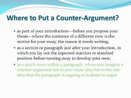 the persuasive essay eng ui eng ui ms frayne ms frayne ppt  where to put a counter argument