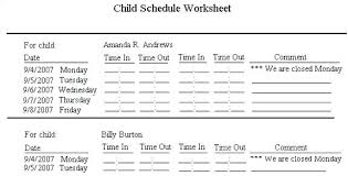 Staff Schedule Template Enchanting Child Care Sign In Sheet Template Staff Schedule Timeline Templates