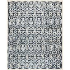 safavieh handmade moroccan cambridge navy blue ivory wool safavieh courtyard moroccan rug