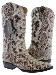 mens full exotic python snake skin cowboy boots j toe