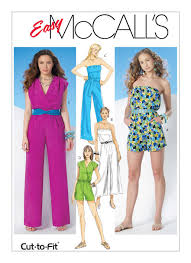 Mccalls Pattern Mesmerizing M48 Misses' Jumpsuits Rompers and Sash Sewing Pattern