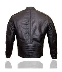 men black designer real sheep biker slim fit leather jacket free postage to uk