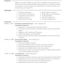 Automotive Technician Resume Impressive Sample Resume For Automotive Technician Auto Technician Resume