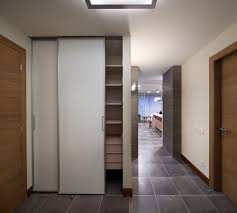 inside front door apartment. Awesome Layout Inspirations For Apartment Design : Sliding Door Works Perfectly To Hide The Clutter Inside Front N
