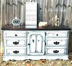 Alluring Distressed Mirrored Dresser Wood And Rustic White ...