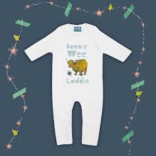 gillian kyle scottish baby clothing scottish baby gift organic cotton baby romper