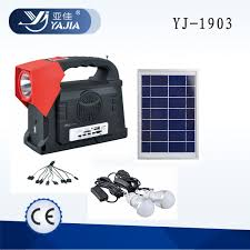 YUYAO YAJIA YJ1905T Hot Selling Charging Portable Light Kit Solar Powered Lighting Systems