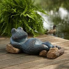 outdoor garden statues. Outdoor Concrete Garden Statues Sears Com Oasis Relaxing Frog Statue. Japanese Garden. Gardeners Supply .