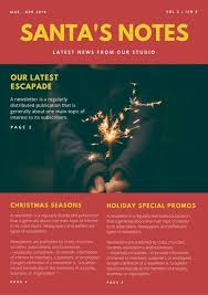 Holiday Newsletter Template Classy Customize 44 Christmas Newsletter Templates Online Canva