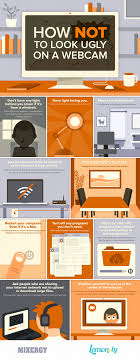 how not to look ugly on a webcam webcam tips infographic lemonly how not to look ugly on a webcam webcam tips infographic
