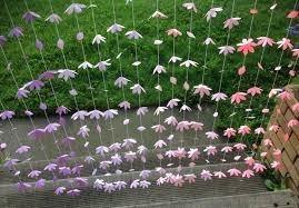Paper Flower Backdrop Garland 60 Strands Pink Purple Paper Flower Backdrop Paper Flower Etsy