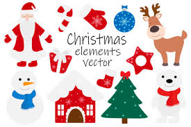 Set New Year Christmas Elements Vector Graphic By Shishkovaiv Creative Fabrica