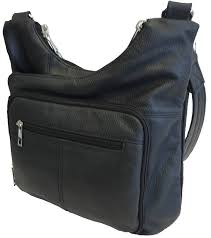 details about genuine leather concealed carry purse concealment bag ccw cwp locking zipper