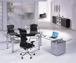 modern glass office desks. chic glass office furniture modern desks adorable in home decorating ideas with e