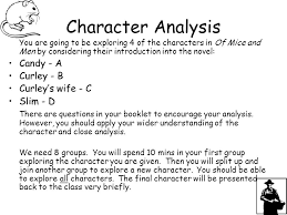 character analysis previousnext character analysis essay rubric friday 20th of mice and men character analysis success