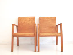 403 hallway chairs by alvar aalto for finmar set of 2