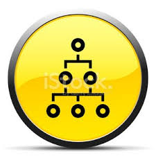 Organization Chart Icon On A Round Button Curve Series