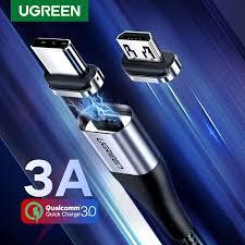 <b>UGREEN</b> 100cm 3A Fast <b>Charging Magnetic</b> Micro USB Type C <b>Cable</b>