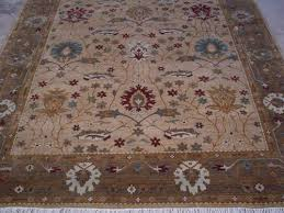 hand knotted woolen carpet rug octogen shape hand knotted rug oushak rugs india