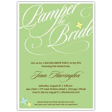 Day At The Spa Bachelorette Party Invitations