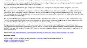 college admissions essay example